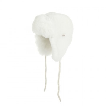 Alpaca Fur Child Trapper Hat - Ivory