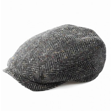 Failsworth Donegal Tweed Windsor Hat - Grey Flecked Herringbone