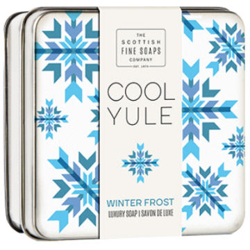 Winter Frost Cool Yule Soap in a Tin