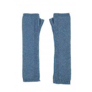 Cashmere Long Purl Stitch Wristwarmers - Jean