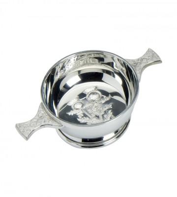 Edwin Blyde Thistle Collection Thistle Design Quaich Bowl
