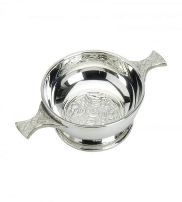 """Edwin Blyde Celtic Collection 4"""" Celtic Cross Quaich Bowl"""
