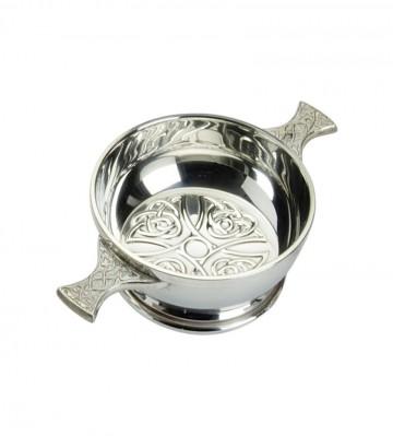 """Edwin Blyde Celtic Collection 2"""" Celtic Design Quaich Bowl"""