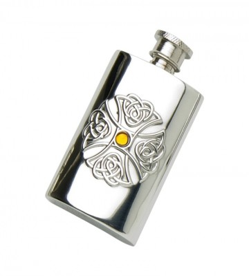 Edwin Blyde Celtic Collection 2Oz Pewter Flask Celtic