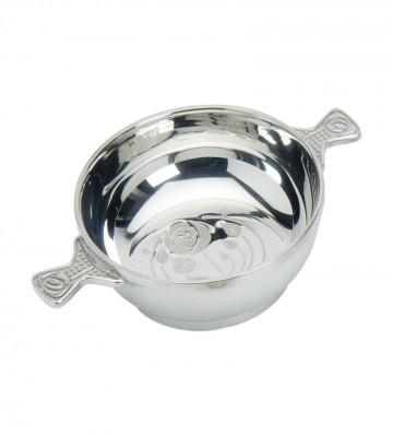 """Edwin Blyde Celtic Collection 4"""" Glasgow Bouquet Quaich Bowl"""