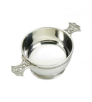 """Edwin Blyde Celtic Collection 4"""" Quaich Bowl Celtic Weave"""