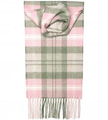 Baird Pink Tartan 100% Cashmere Scarf by Lochcarron of Scotland