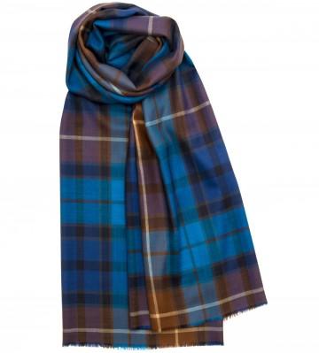 Extra Fine Merino Stole - Buchanan Blue - Lochcarron of Scotland