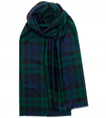 Extra Fine Merino Stole - Black Watch Modern - Lochcarron of Scotland