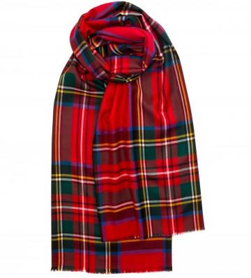 Extra Fine Merino Stole - Royal Stewart - Lochcarron of Scotland