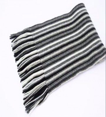 Black & White Stripes 2 Ply Cashmere Scarf from The Scarf Company - Made in Scotland