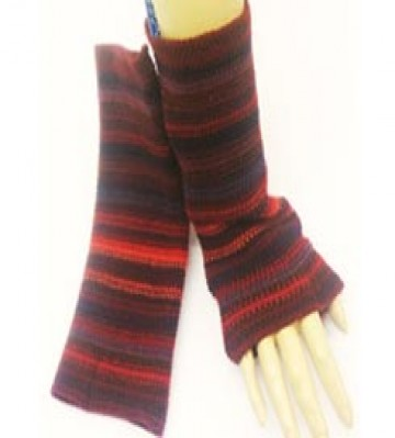 The Scarf Company 100% Lambswool Ladies Wristlets - Burgundy