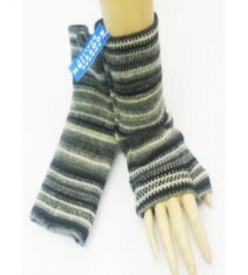 The Scarf Company 100% Lambswool Ladies Wristlets - Grey