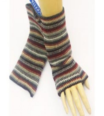 The Scarf Company 100% Lambswool Ladies Wristlets - Light Brown