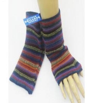 The Scarf Company 100% Lambswool Ladies Wristlets - Purple