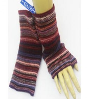 The Scarf Company 100% Lambswool Ladies Wristlets - Wine Red