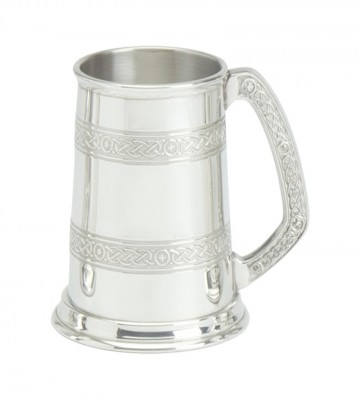 Edwin Blyde Celtic Collection 1 Pt Pewter Tankard
