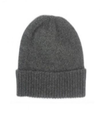 The Scarf Company Derby Grey Cashmere Beanie Hat