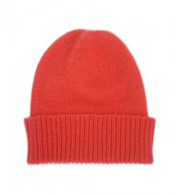 The Scarf Company Pheonix Red Cashmere Beanie Hat
