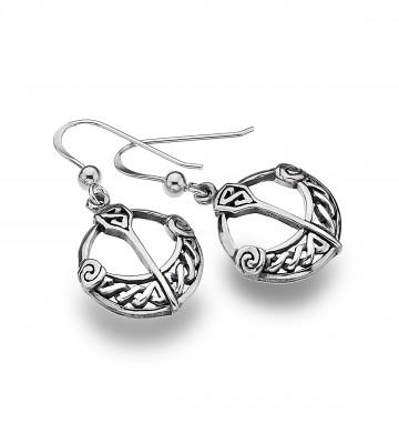 Celtic Tara Style Sterling Silver Earrings