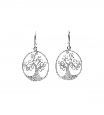 Celtic Spiral Tree of Life Sterling Silver Earrings