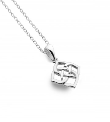Celtic Trinity Knot 4 Point Sterling Silver Pendant Necklace