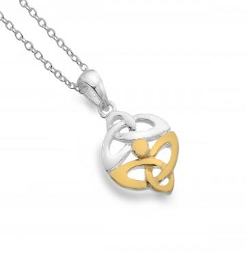 Celtic Trinity Knots Sterling Silver Pendant Necklace
