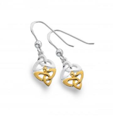 Celtic Trinity Knots Sterling Silver Earrings