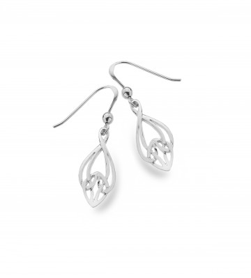 Celtic Knotwork Bell Shape Sterling Silver Earrings