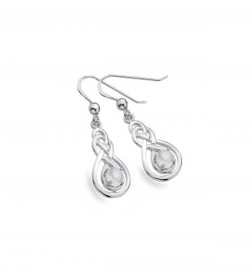 Celtic Double Knot & Moonstone Sterling Silver Earrings