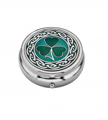 Celtic Shamrock Large Pill Box