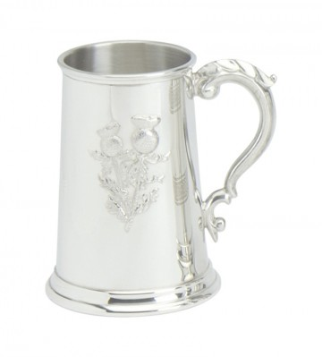 Edwin Blyde Thistle Collection Tankard Stamped Thistle Scene
