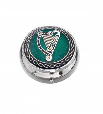 Celtic Irish Harp Small Pill Box