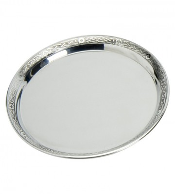 Edwin Blyde Celtic Collection Pewter Tray With Celtic Rim