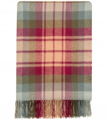 100% Lambswool Blanket in Auld Scotland by Lochcarron of Scotland