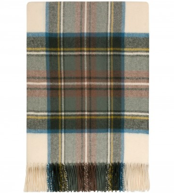 100% Lambswool Blanket in Tyree by Lochcarron of Scotland