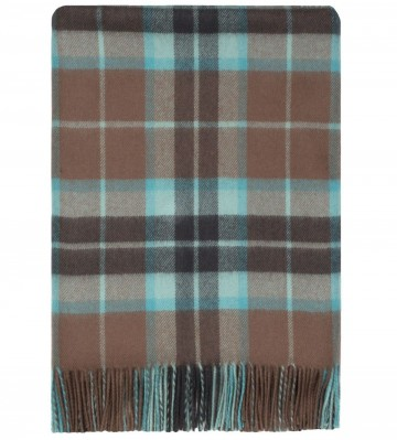 100% Lambswool Blanket in Brown Thompson Hunting by Lochcarron of Scotland