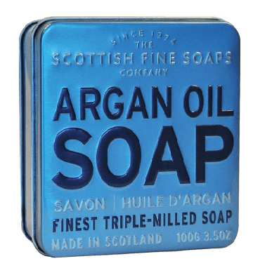 Argan Oil Scottish Fine Soap in a Tin - 100g Triple Milled