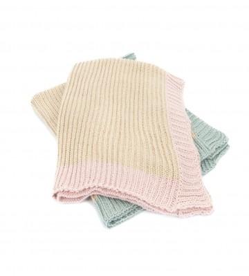 Alpaca Chunky Knit Baby Girl Blanket
