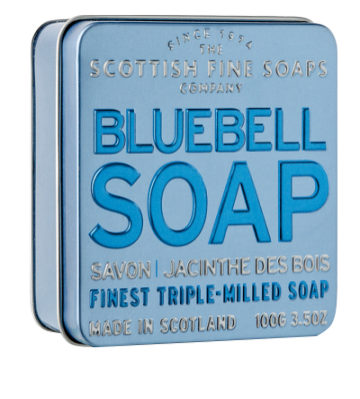 Bluebell Scottish Fine Soap in a Tin - 100g Triple Milled