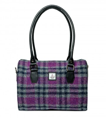 Maccessori Harris Tweed Bowling Bag in Pink Check