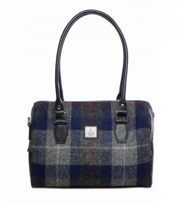 Maccessori Harris Tweed Bowling Bag in Blue Check