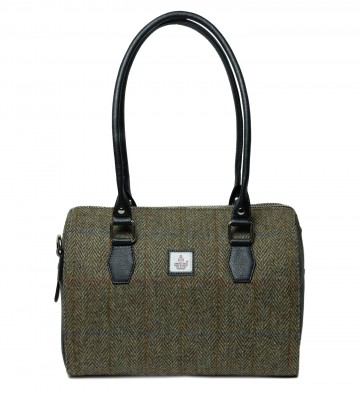 Maccessori Harris Tweed Bowling Bag in Country Green
