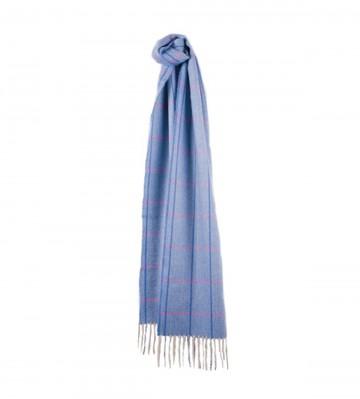 Sinclair Duncan Herringbone Woven Cashmere Scarf - Bright Blue