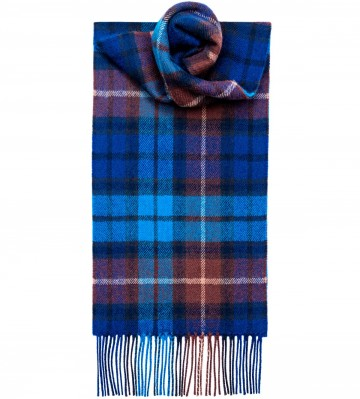 Buchanan Blue Tartan 100% Lambswool Scarf by Lochcarron