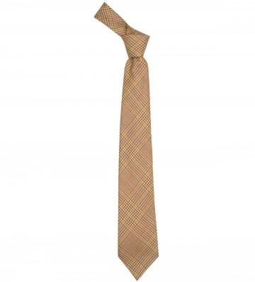 Crail Check Lochcarron of Scotland Tweed Wool Tie