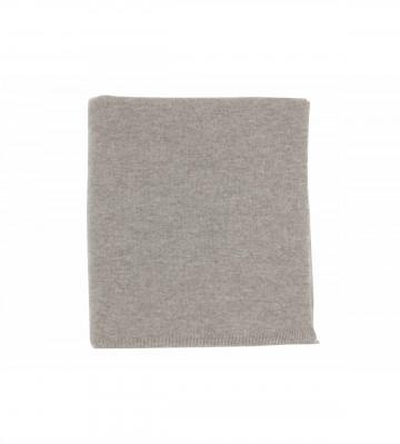 Johnston's of Elgin Cashmere Plain Gauzy Knit Throw - Light Grey