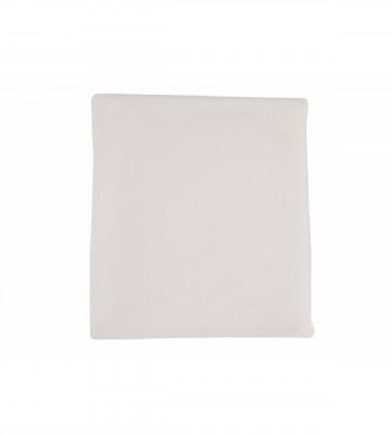 Johnston's of Elgin Cashmere Plain Gauzy Knit Throw - White