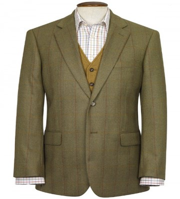 Helsinki Pure New Wool Tweed Jacket - Green Check
