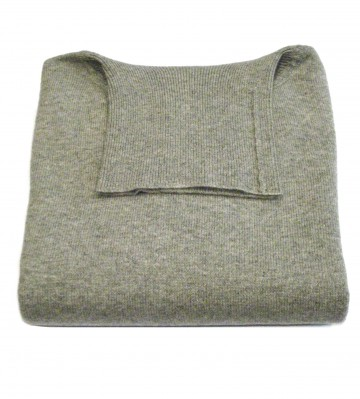 Mens Light Grey Roll Neck Sweaters - 100% Cashmere Made in Scotland